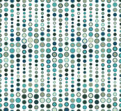 Naadloos patroon op witte achtergrond Heeft de vorm van een golf Bestaat uit geometrische elementen De elementen hebben een ronde Royalty-vrije Stock Foto's