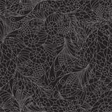 Naadloos patroon op zwarte achtergrond Stock Fotografie