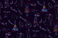 Naadloos patroon Parijs Stock Foto