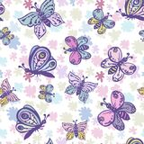Naadloos patroon in pastelkleuren met mooie en kleurrijke bu vector illustratie