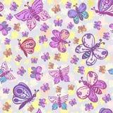 Naadloos patroon in pastelkleuren met mooie en kleurrijke bu royalty-vrije illustratie