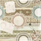 Naadloos patroon, plakboekelementen Stock Fotografie