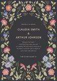 Naadloos patroon Realistische geïsoleerde bloemen Uitstekende van de primavera hibisc Tekening van de achtergrondheliotroophibisc Royalty-vrije Stock Foto's