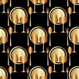 Naadloos patroon Restaurant Stock Afbeelding