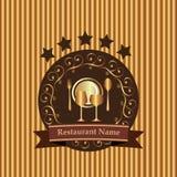 Naadloos patroon Restaurant vector illustratie