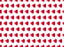 Naadloos patroon, rode hartenballons Royalty-vrije Stock Fotografie