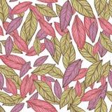 Naadloos patroon Roze Bladillustratie royalty-vrije stock foto's