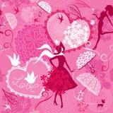 Naadloos patroon in roze kleuren royalty-vrije illustratie