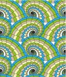 Naadloos patroon - spiralen Stock Afbeeldingen
