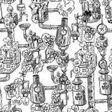 Naadloos patroon steampunk Stock Afbeeldingen