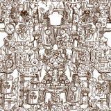 Naadloos patroon steampunk Royalty-vrije Stock Afbeeldingen
