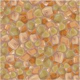 Naadloos patroon - Stenenachtergrond in bruin stock illustratie