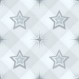 Naadloos patroon, sterren en geruit Stock Foto