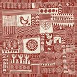 Naadloos patroon in stijl van lapwerk Stock Fotografie