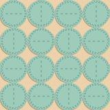 Naadloos patroon Stof met cirkels Stock Fotografie
