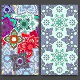 Naadloos patroon twee Oosters ontwerp Royalty-vrije Stock Fotografie