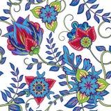 Naadloos patroon Uitstekende decoratieve elementen Hand Getrokken Achtergrond Royalty-vrije Stock Afbeeldingen