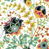 Naadloos patroon Uitstekende decoratieve elementen Hand Getrokken Achtergrond Stock Afbeelding