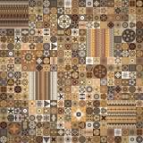 Naadloos patroon Uitstekende decoratieve elementen Hand Getrokken Achtergrond Islam, Arabisch, Indiër, ottomanemotieven Stock Foto's