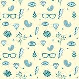 Naadloos patroon in uitstekende kleuren stock illustratie