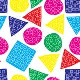 Naadloos patroon van abstract art. achtergrond in heldere kleuren Vector illustratie Goede keus voor de achtergronddecoratie Stock Foto