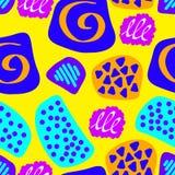 Naadloos patroon van abstract art. achtergrond in heldere kleuren Vector illustratie Goede keus voor de achtergronddecoratie Stock Afbeeldingen