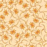 Naadloos patroon van abstracte bladeren van palmen op een beige achtergrond Royalty-vrije Stock Foto