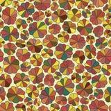 Naadloos patroon van abstracte bloemen Stock Afbeelding