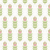 Naadloos patroon van abstracte bloemen op de bleke rollen Royalty-vrije Stock Afbeelding
