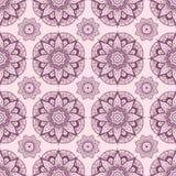 Naadloos patroon van abstracte elementen in etnische stijl wijnoogst Stock Afbeelding