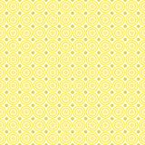 Naadloos patroon van abstracte pastelkleur gele en lilac cirkels op een lichtgele achtergrond voor stoffen, behang, tafelkleden stock illustratie