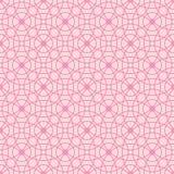 Naadloos patroon van abstracte roze cirkels op een lichtrose achtergrond voor stof, behang, tafelkleden, drukken en ontwerpen vector illustratie