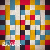 Naadloos patroon van abstracte vierkanten Stock Fotografie