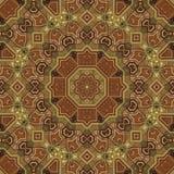 Naadloos patroon 003 van Arabesque van het boulleinlegwerk Royalty-vrije Stock Afbeeldingen