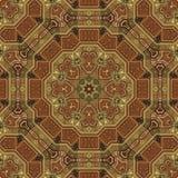 Naadloos patroon 001 van Arabesque van het boulleinlegwerk Stock Afbeelding