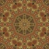 Naadloos patroon 002 van Arabesque van het boulleinlegwerk Royalty-vrije Stock Foto