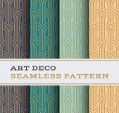 Naadloos patroon 05 van Art Deco Royalty-vrije Stock Fotografie