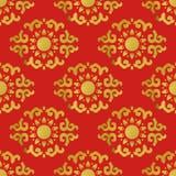 Naadloos Patroon van Aziatisch Element Royalty-vrije Stock Afbeelding