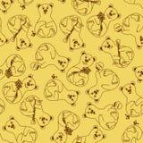 Naadloos patroon van beren Royalty-vrije Stock Fotografie
