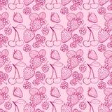 Naadloos patroon van bessen Stock Fotografie