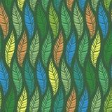 Naadloos patroon van bladeren 2 Stock Foto's