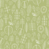 Naadloos patroon van bladeren, bloemenachtergrond Stock Foto's