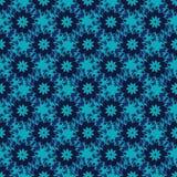 Naadloos patroon van blauwe bloemen royalty-vrije illustratie