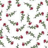 Naadloos patroon van bloemen Druk voor stof en andere oppervlakten Met de hand getrokken bloemen Abstract naadloos patroon op wit vector illustratie