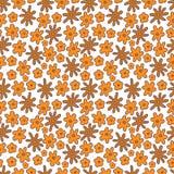 Naadloos patroon van bloemen op witte achtergrond Stock Fotografie
