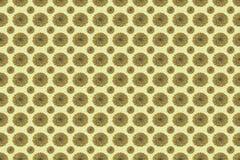 Naadloos patroon van bloemen in oude goud en stroopbalkleuren Stock Foto