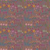 Naadloos patroon van bloemen van verschillende kleuren Stock Fotografie