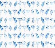 Naadloos patroon van bloemenelementen Stock Foto