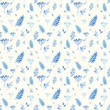 Naadloos patroon van bloemenelementen Stock Afbeelding