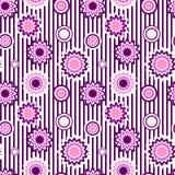 Naadloos patroon van bloemenornament Stock Afbeelding
